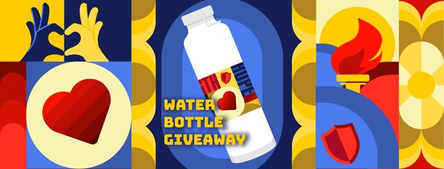 Sickle cell warrior Water bottle giveaway